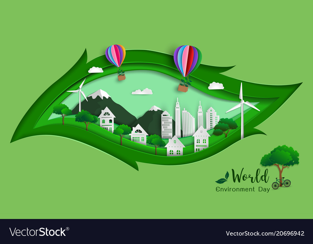 Green eco friendly save the world and environment