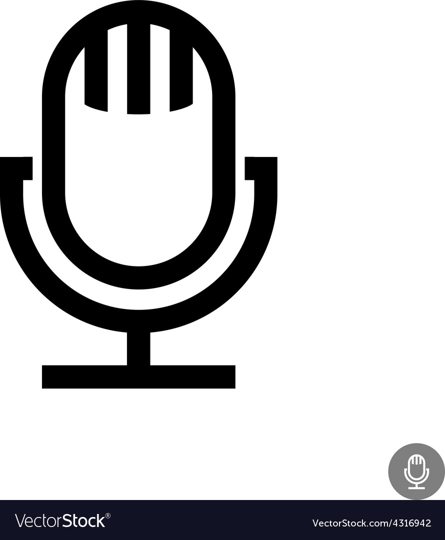 Microphone icon Isolated on a white background