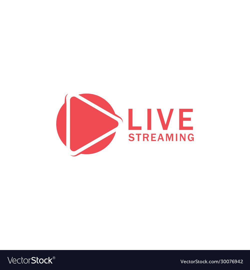Play live streaming icon design template