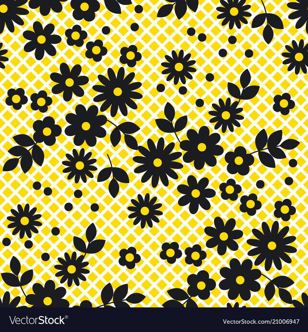 Abstract simple white flowers seamless pattern