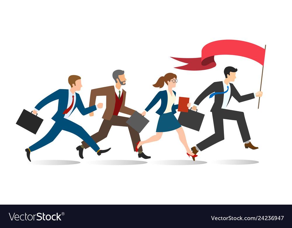Business team running