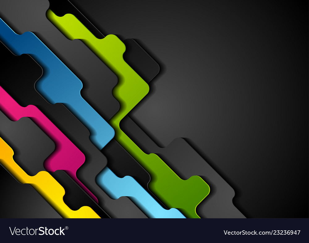 Colorful corporate abstract geometric background