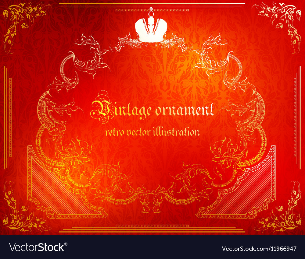 Red Rustic Vintage Frame Royalty Free Vector Image
