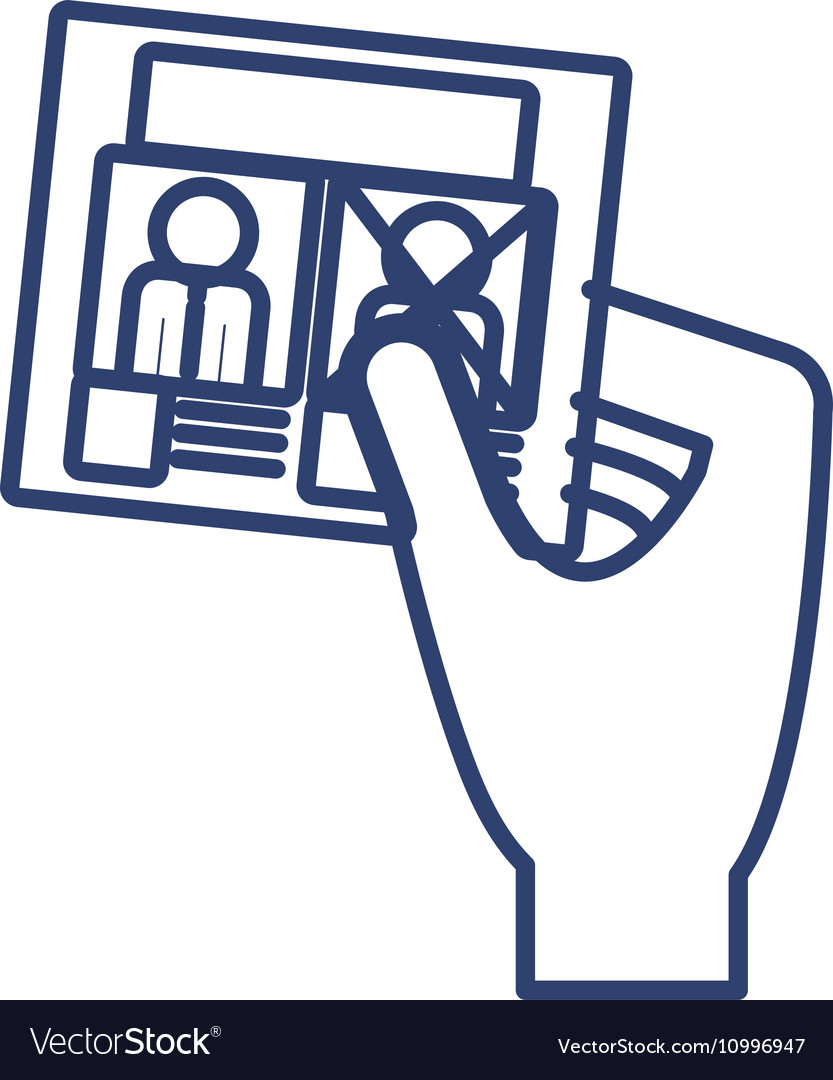 Silhouette right hand with electoral card