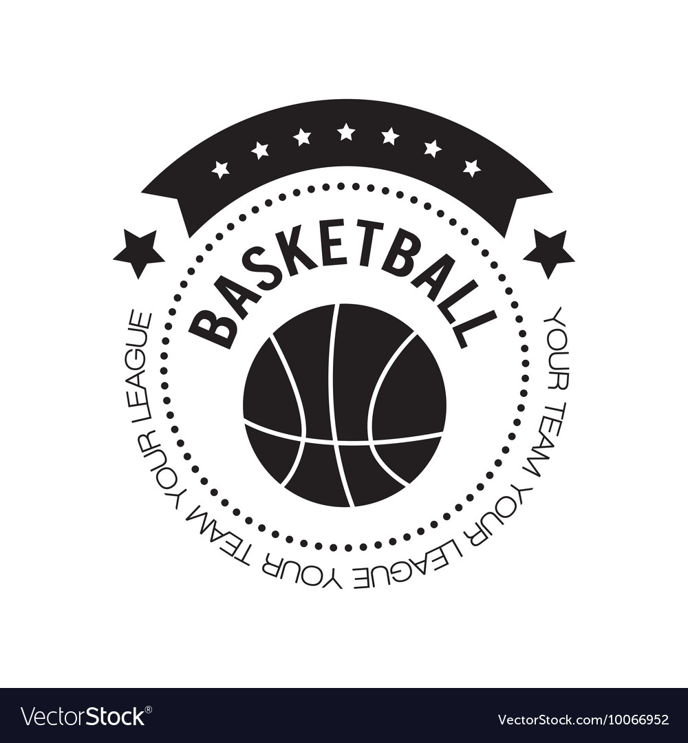 basketball logo design royalty free vector image