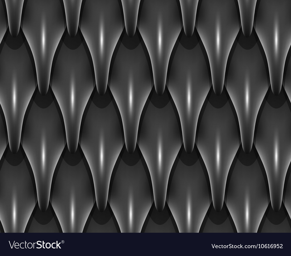 Black dragon scales seamless background texture vector image