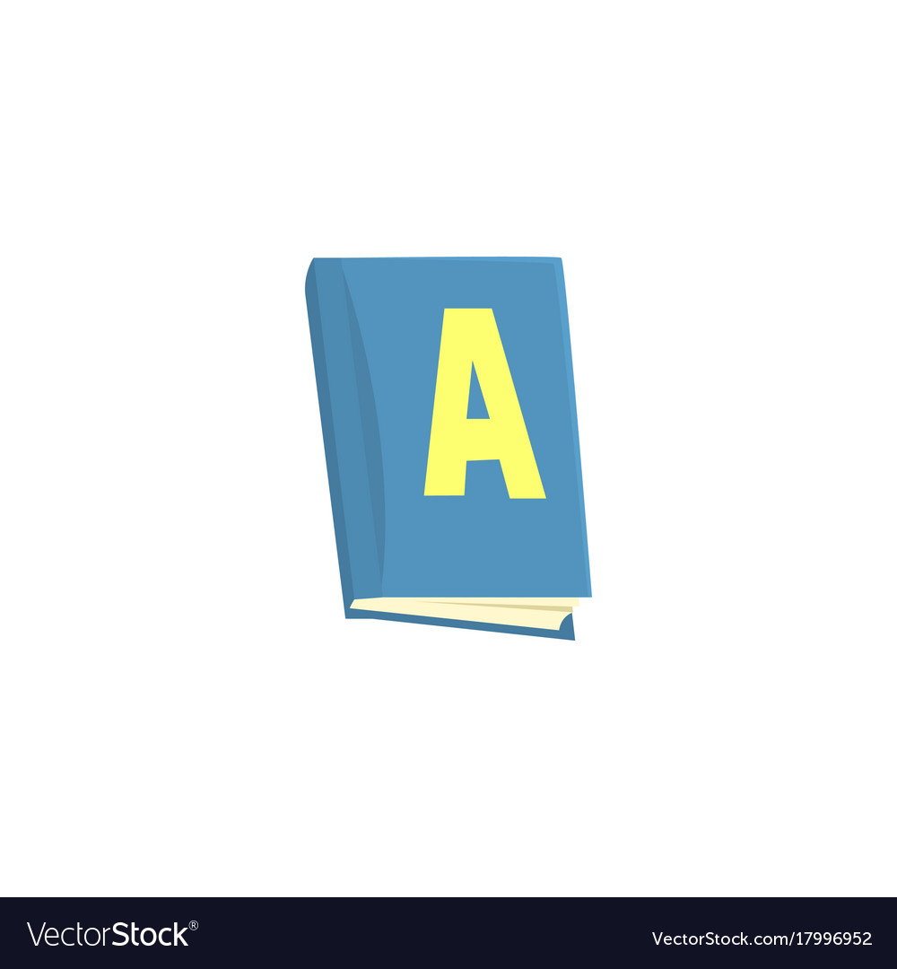 Blue school textbook cartoon vector image