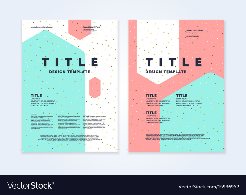 Brochure template for business modern journal