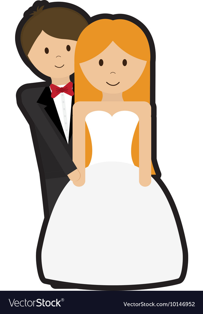 couple cartoon wedding marriage icon royalty free vector rh vectorstock com cartoon pictures wedding couples cartoon wedding pictures vector