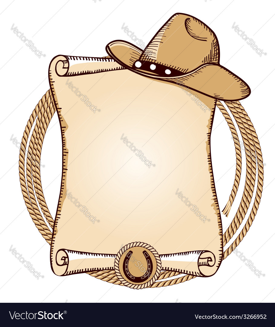 Cowboy hat and lasso American