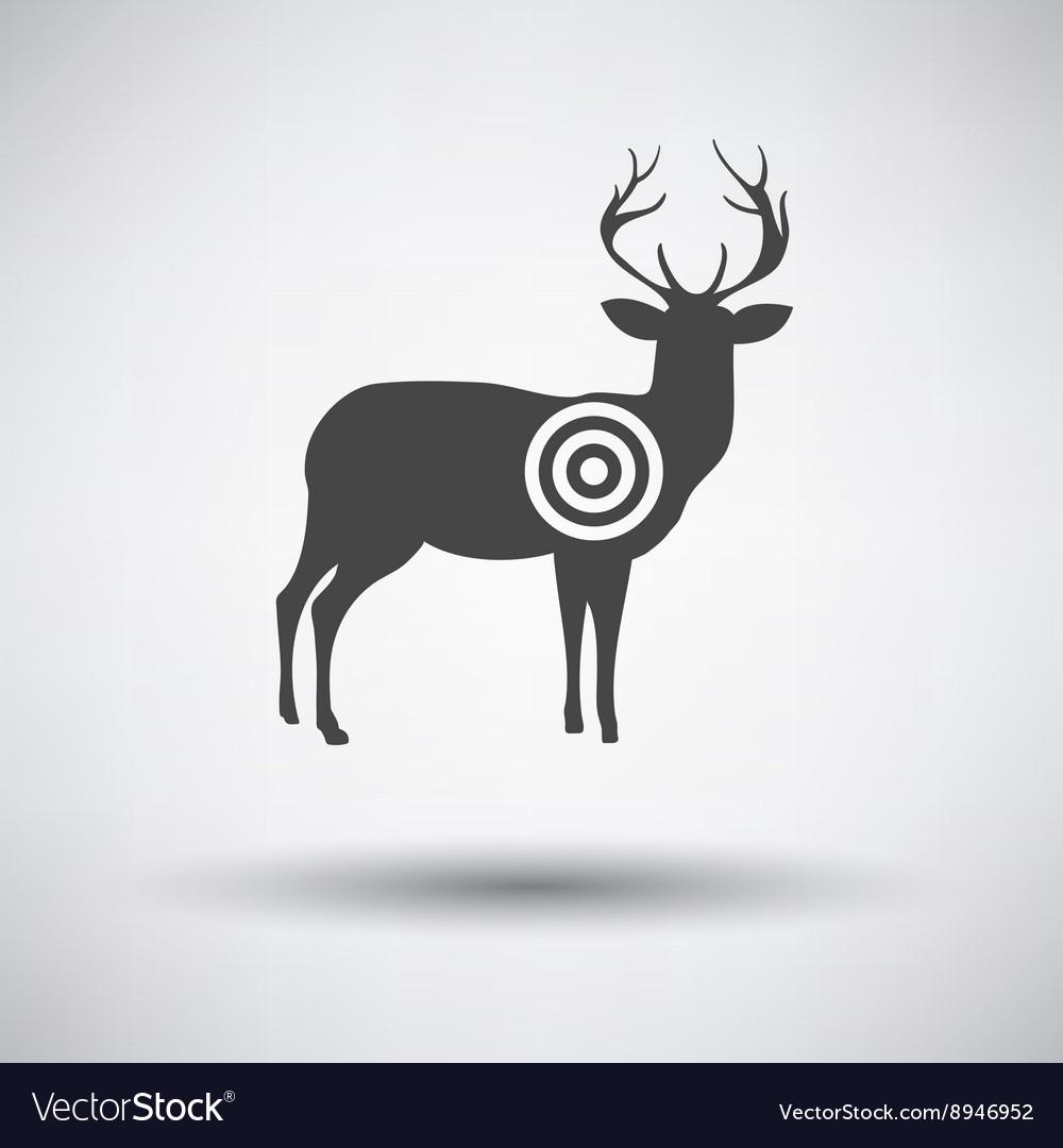 Deer silhouette with target
