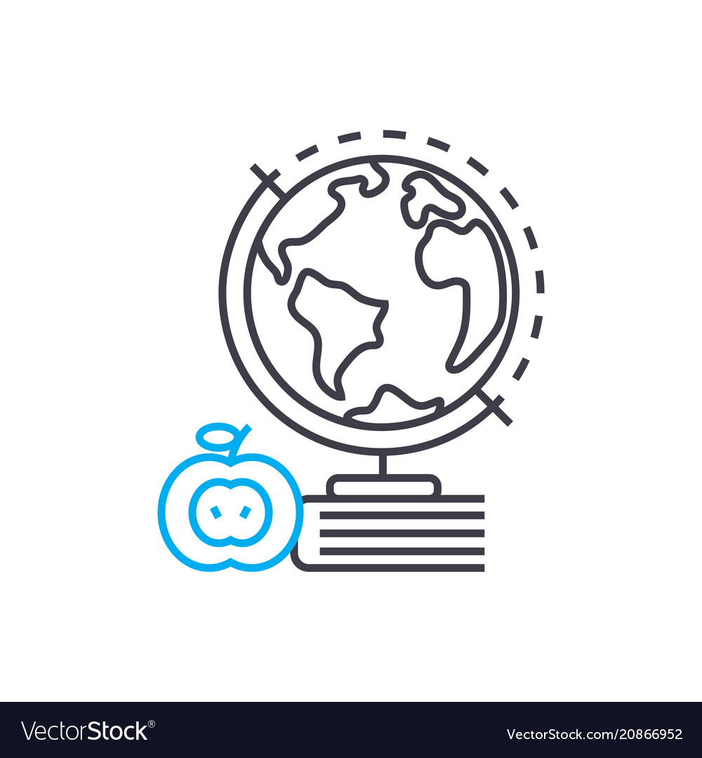 Geography thin line stroke icon geography