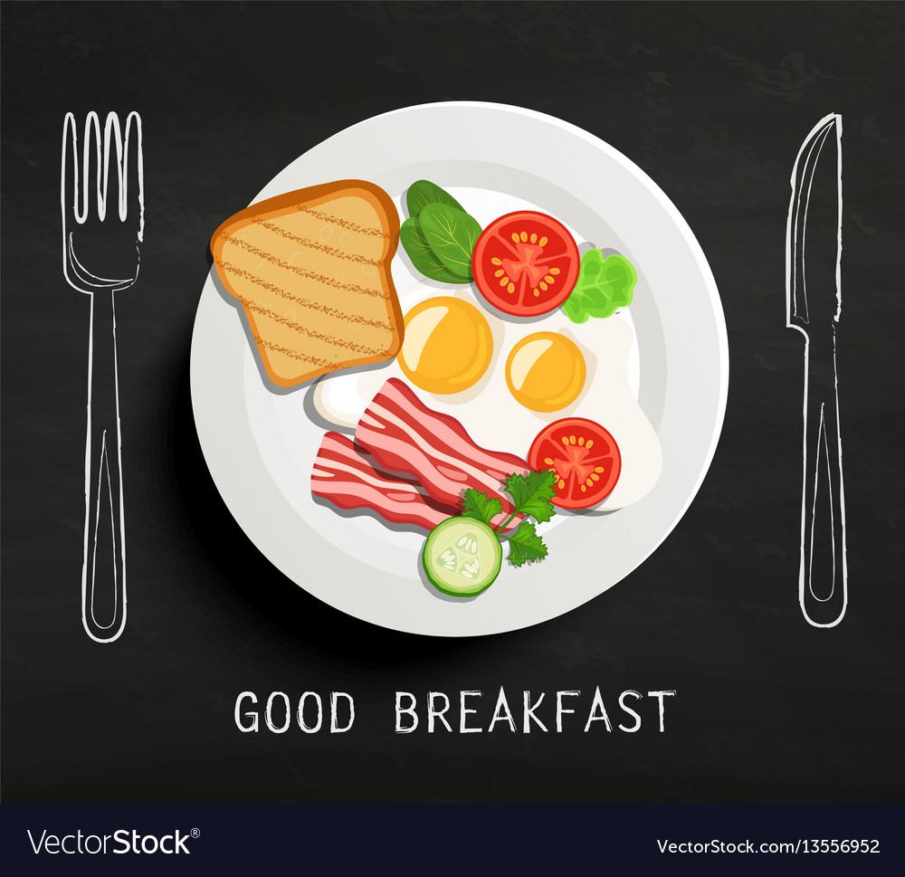 Good breakfast lettering