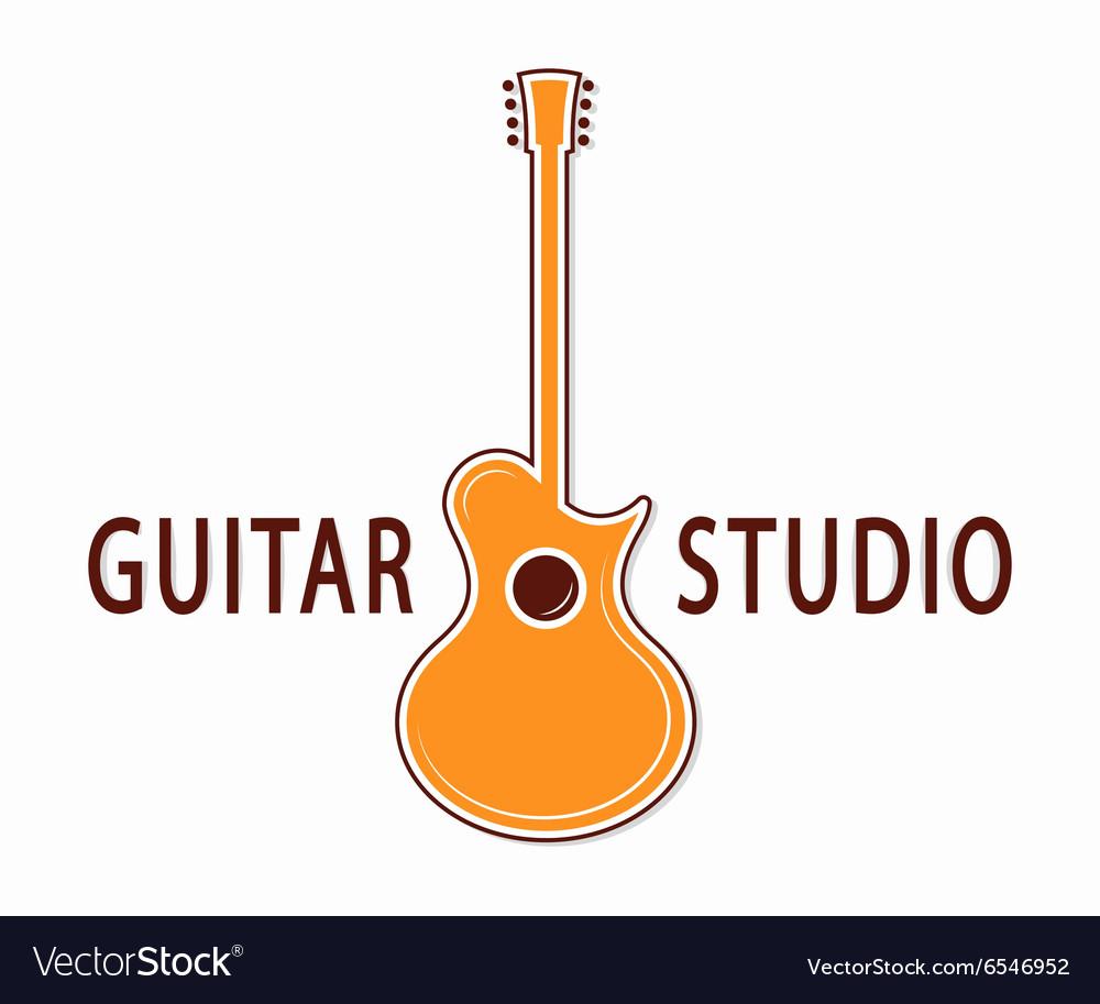 Guitar icon or symbol Logo for music shop