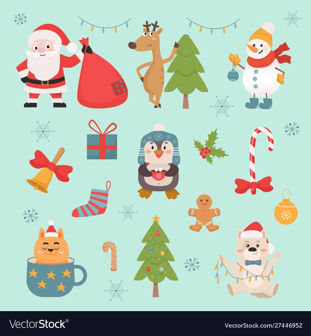 New year celebration symbols and animals