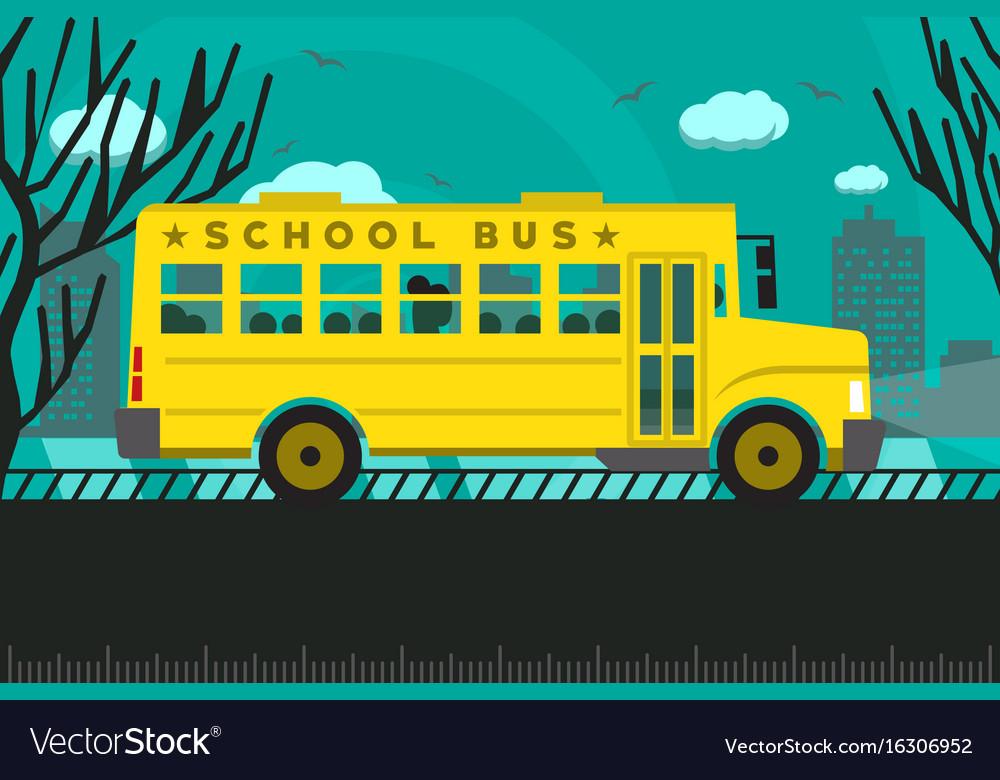 School bus back to school