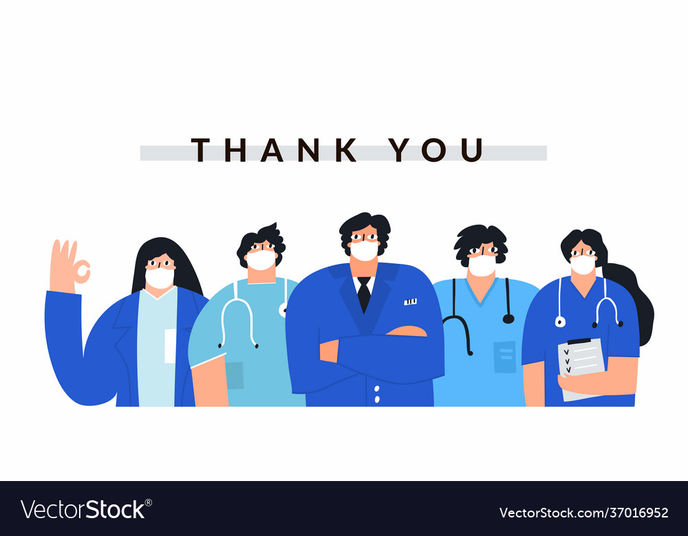 Thank you healthcare professionals banner template