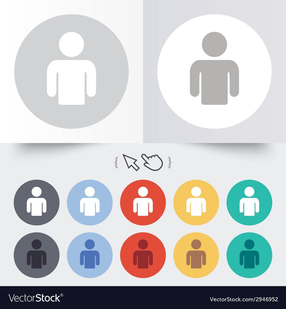 User sign icon person symbol