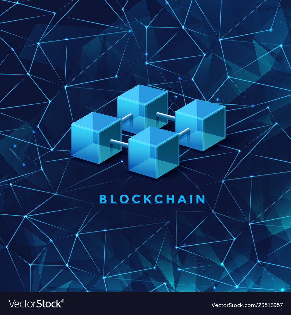 Blockchain technology concept block chain database