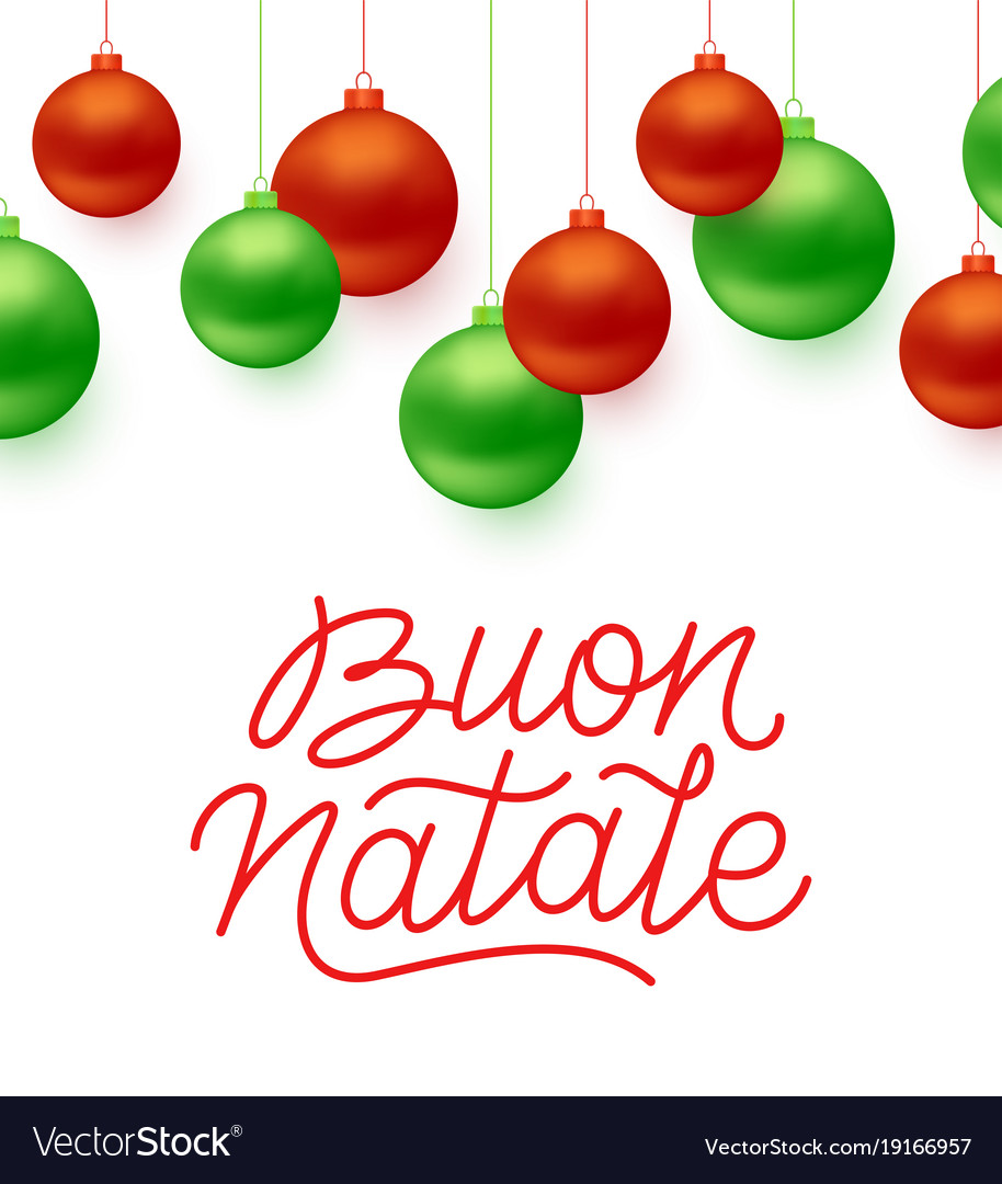 Merry Christmas In Italian.Buon Natale Italian Merry Christmas Typography