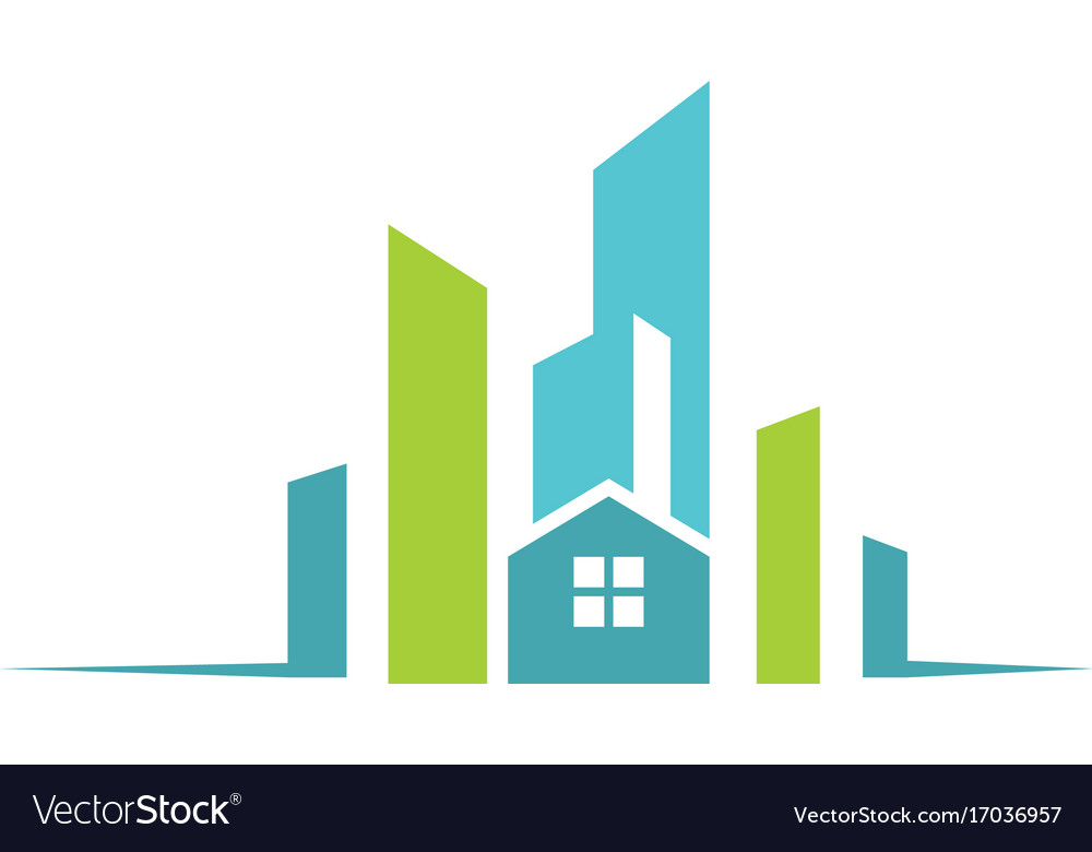 city building construction logo royalty free vector image