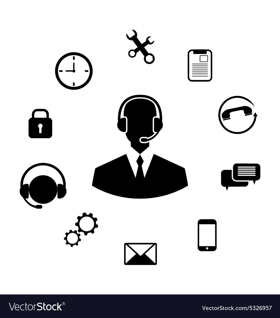 Concept of Help Desk Service vector image