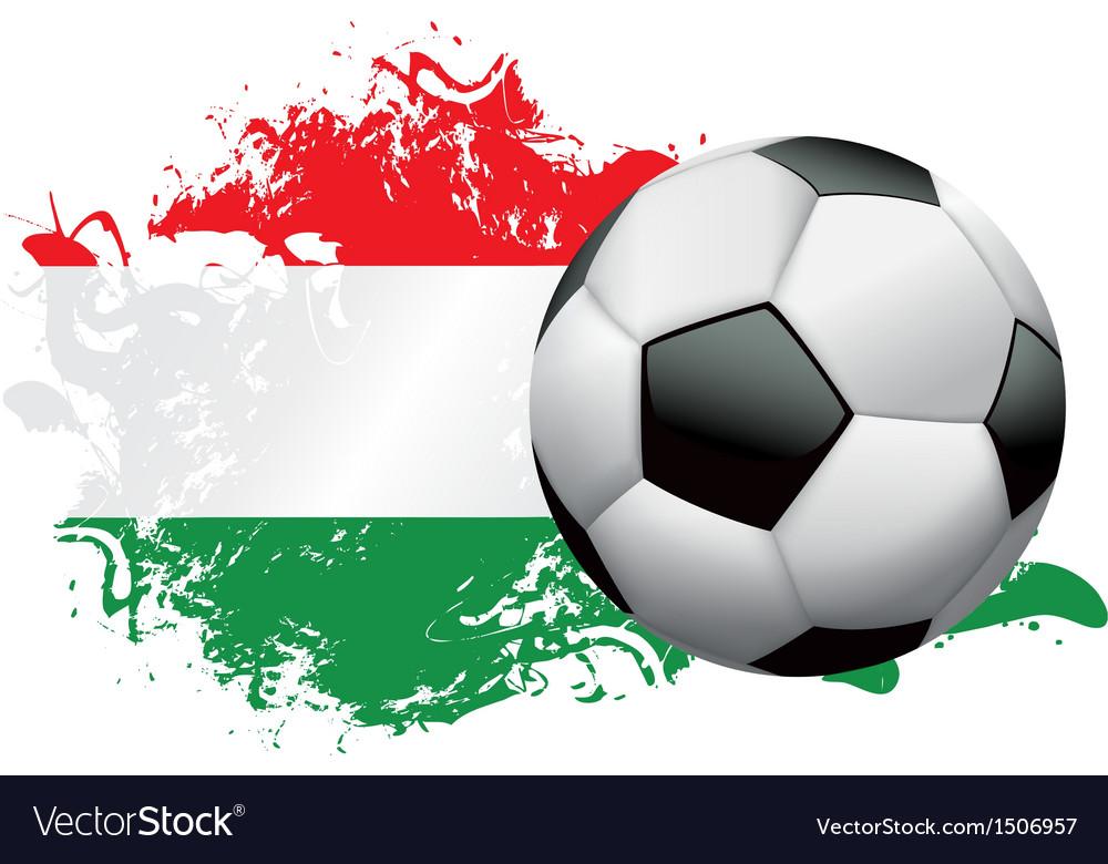 Hungary Soccer Grunge