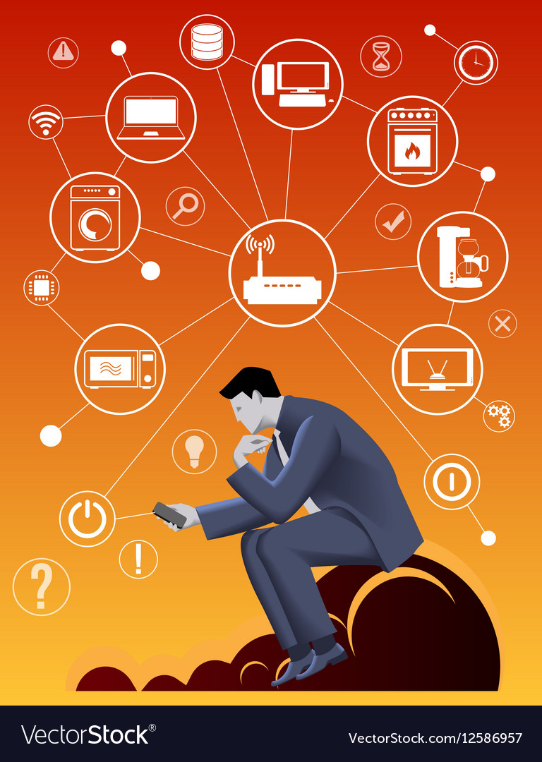 Internet of things business concept vector image