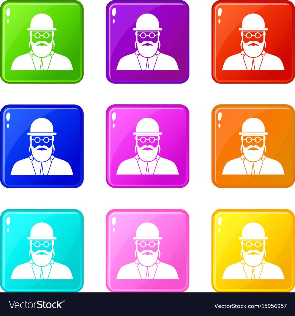 Orthodox jew set 9 vector image
