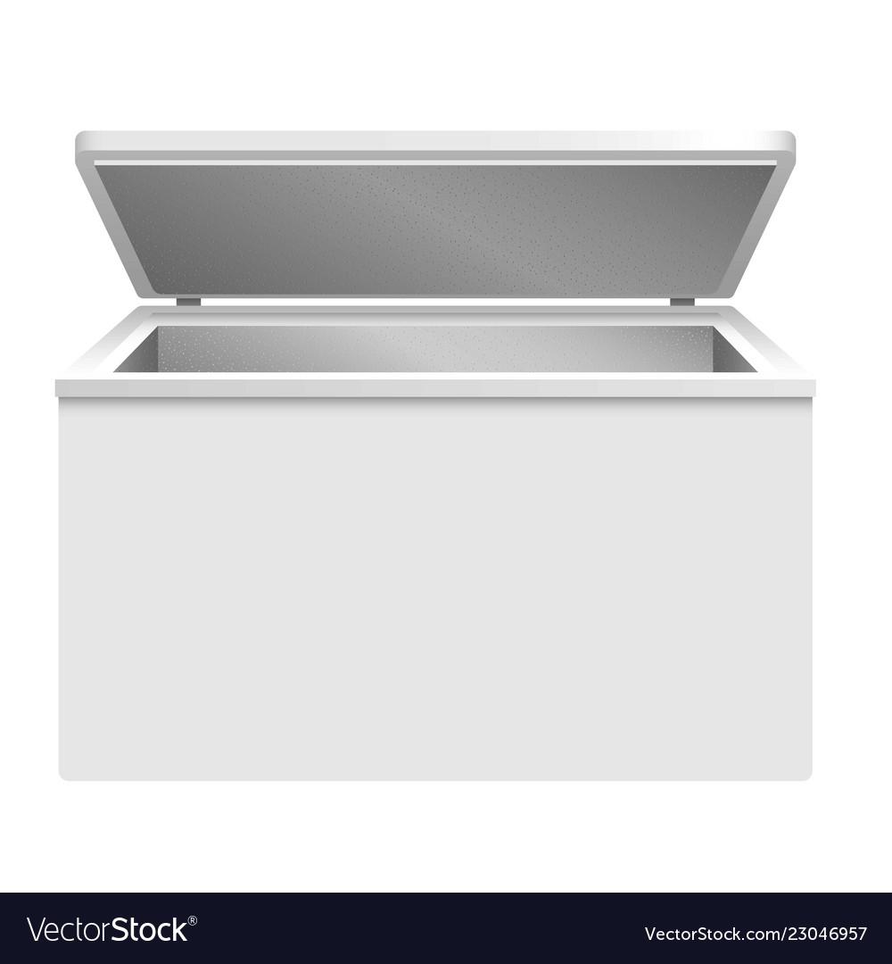 Refrigerator icon realistic style
