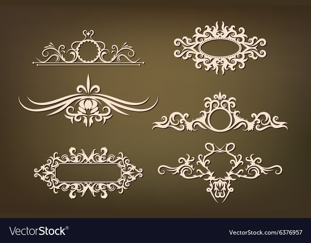 Set ornaments with floral elements