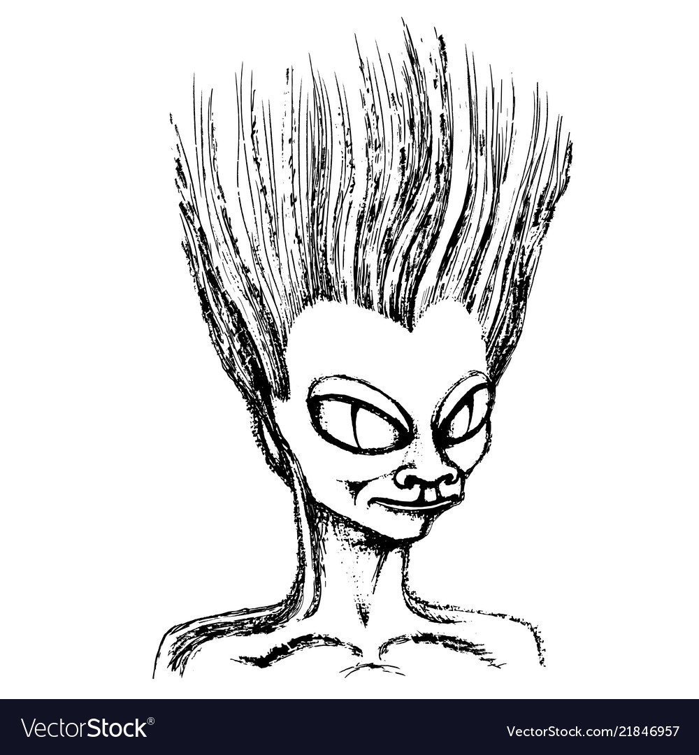 Sketch head an alien