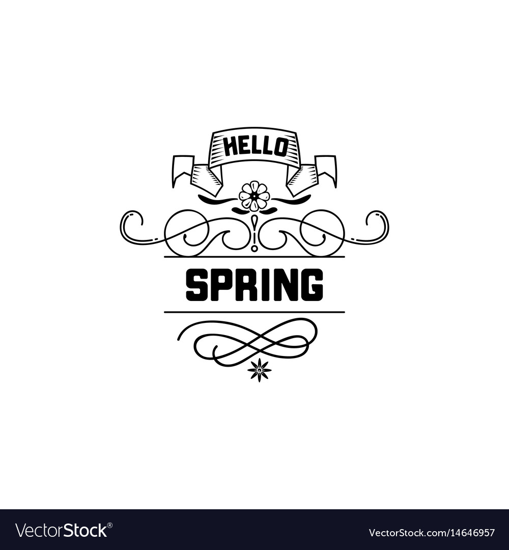 Spring sale badge design sticker stamp logo vector image