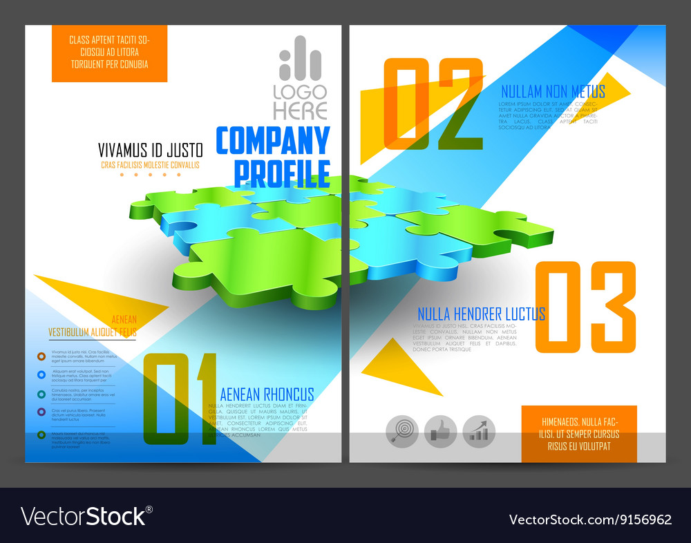 annual report and presentation template design vector image, Technology In The Classroom Free Presentation Template, Presentation templates