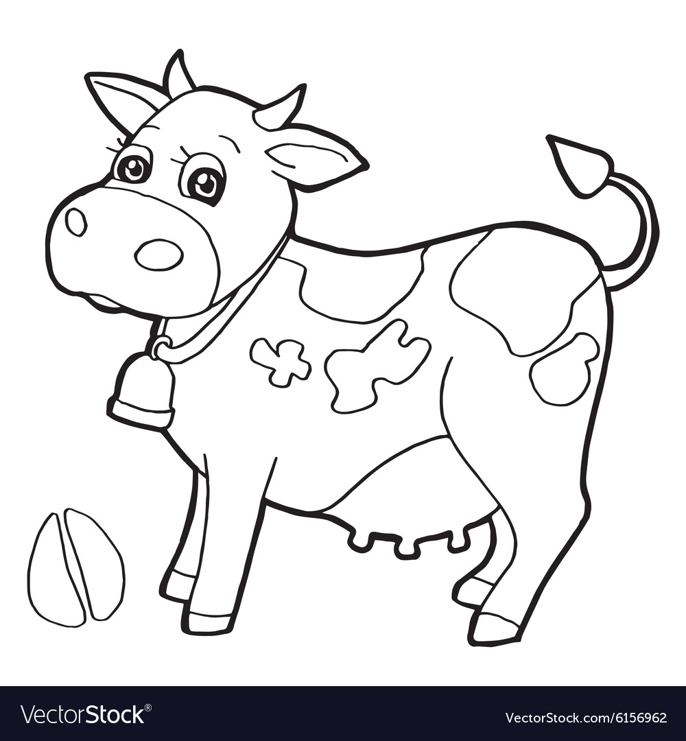 Cattle with paw print Coloring Pages