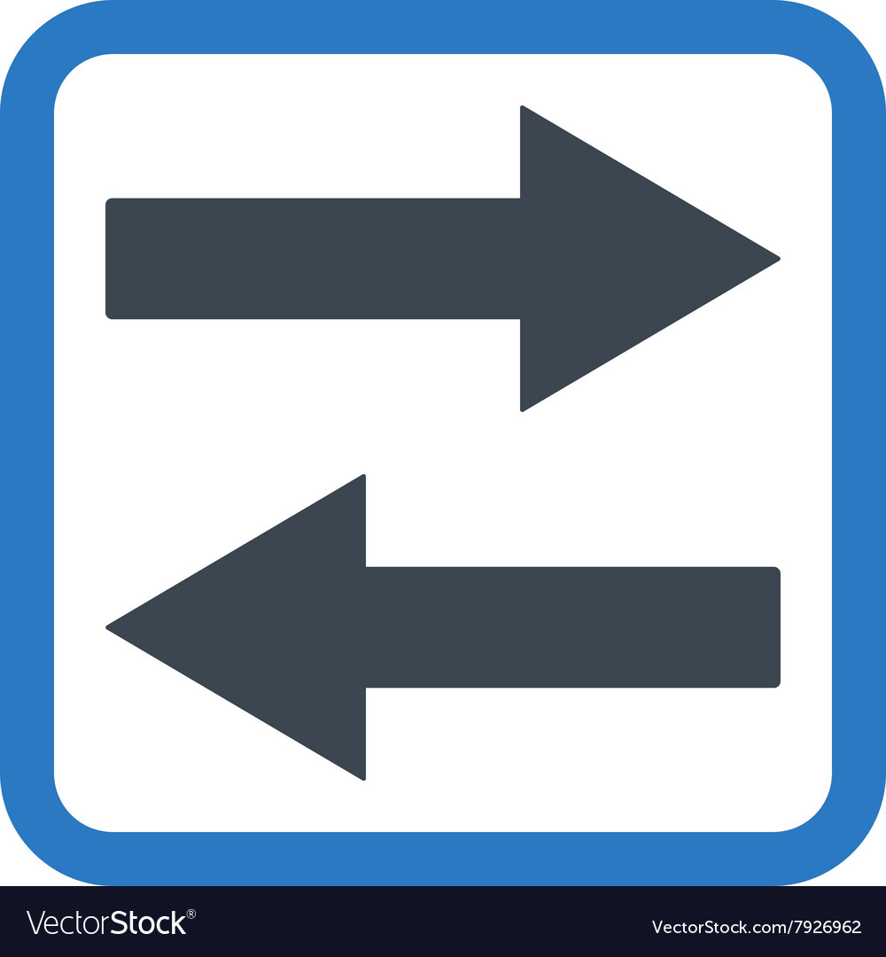 Horizontal Flip Arrows Flat Icon vector image