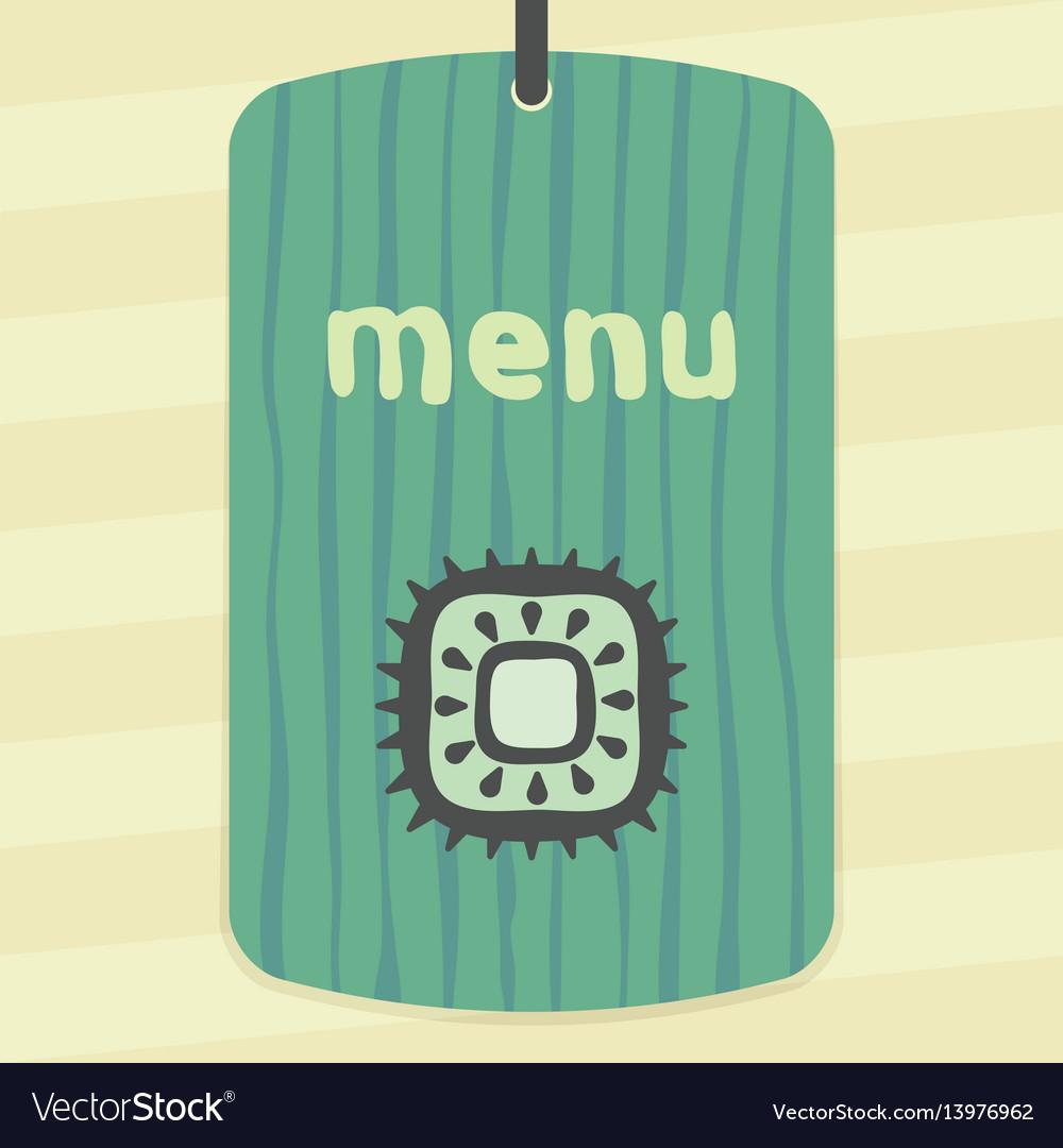 Outline kiwi fruit icon modern infographic logo