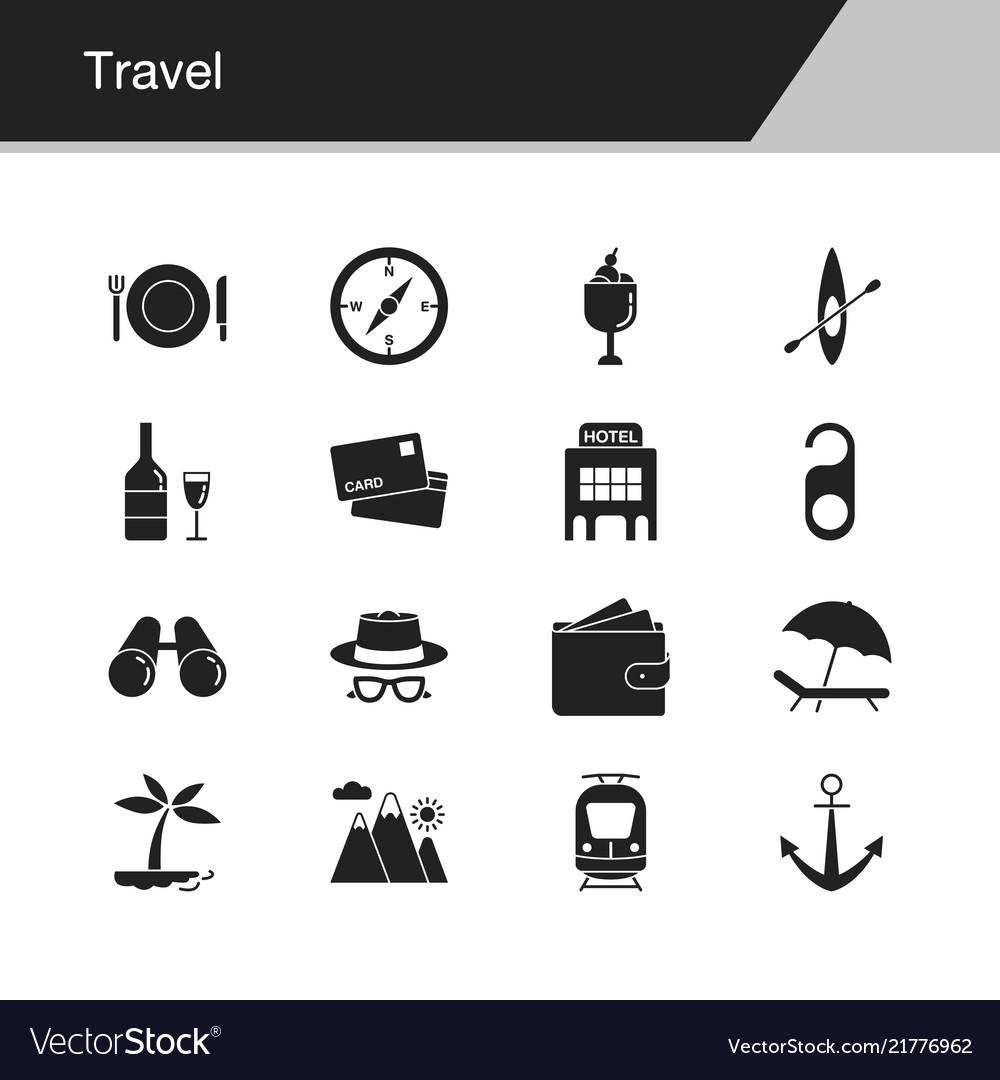 Travel icons design for presentation graphic