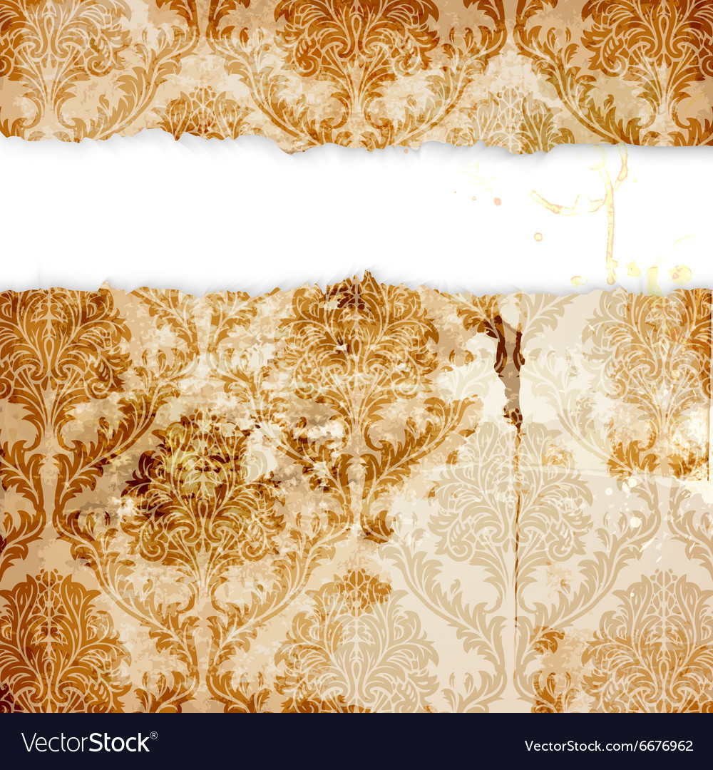 Vintage Floral Wallpaper Royalty Free Vector Image