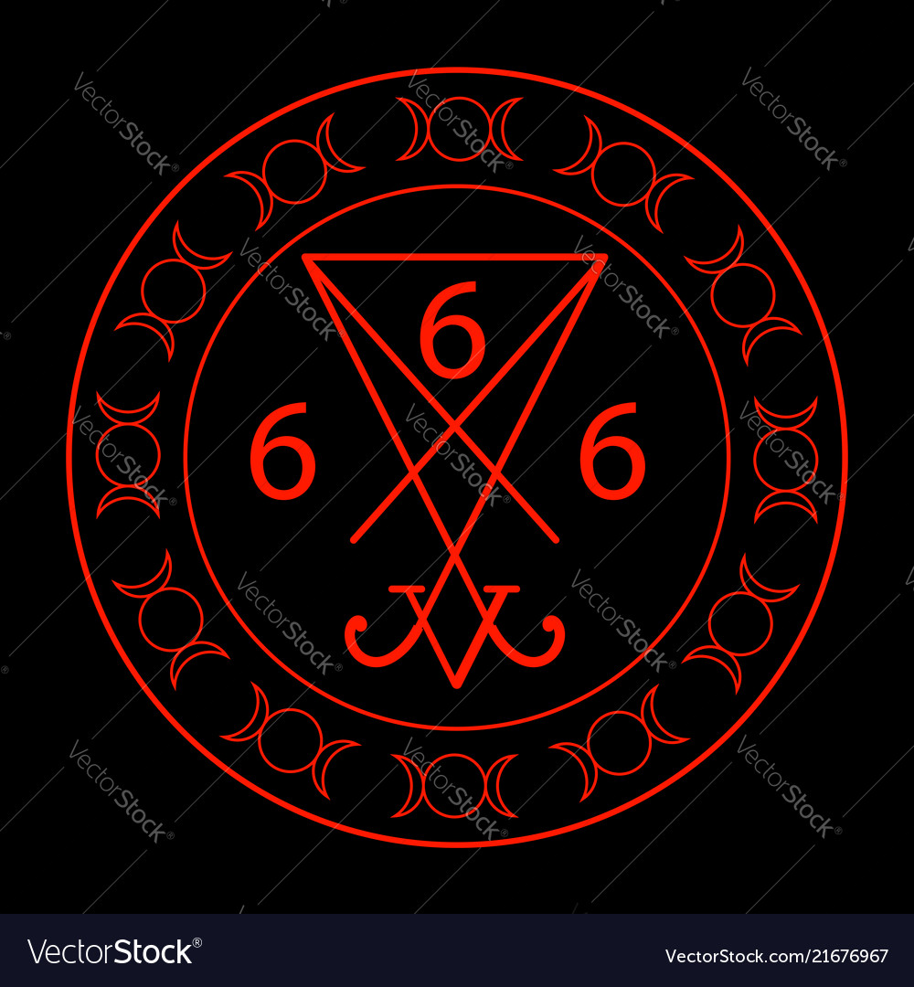 666- the number of the beast with the sigil of luc