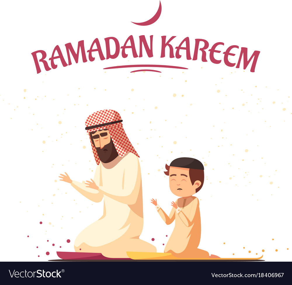 Arab muslims ramadan kareem cartoon