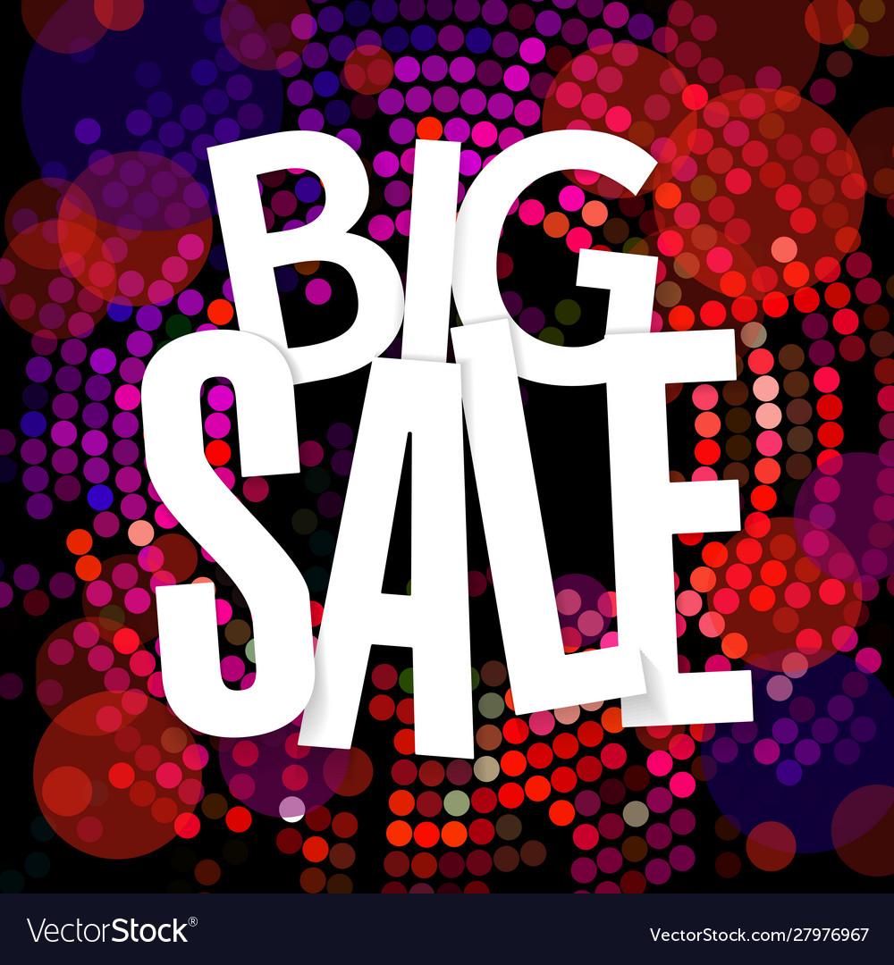 Big sale banner flat design template