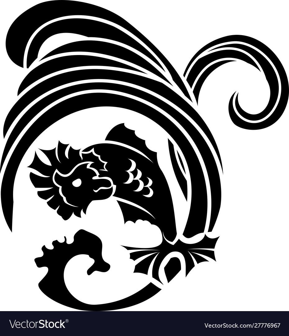 Black fish stencil icon