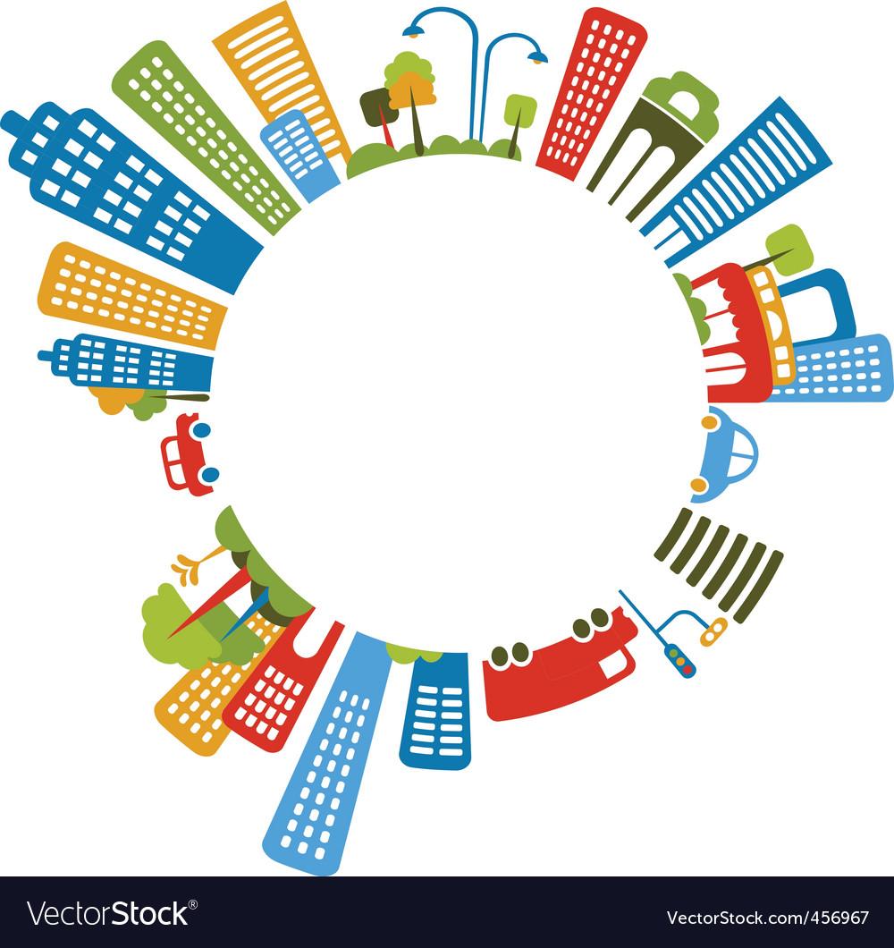 City border frame vector image