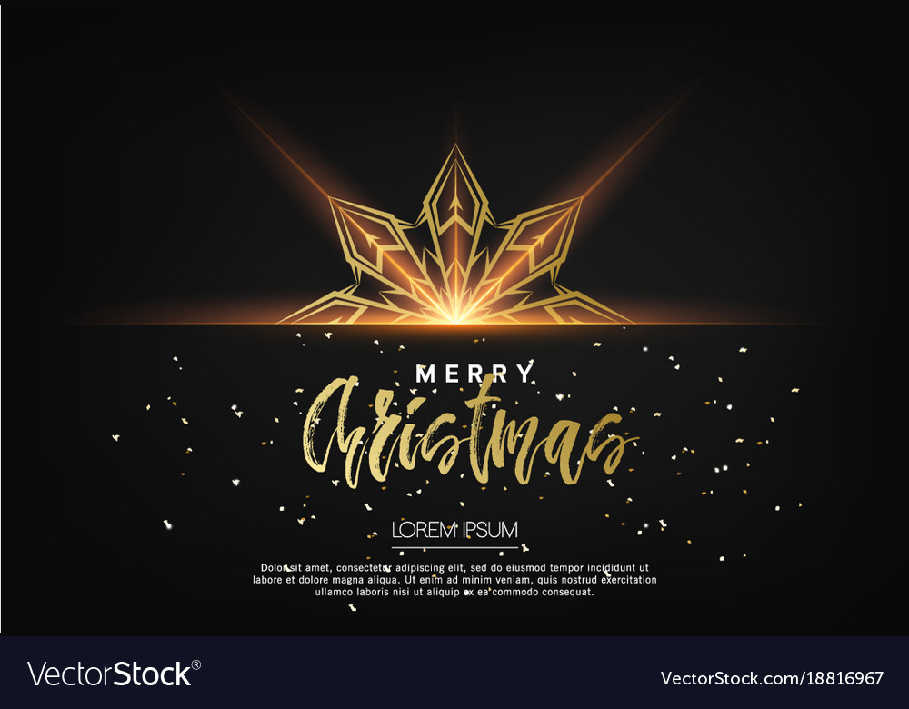 Elegant christmas background with bhining gold