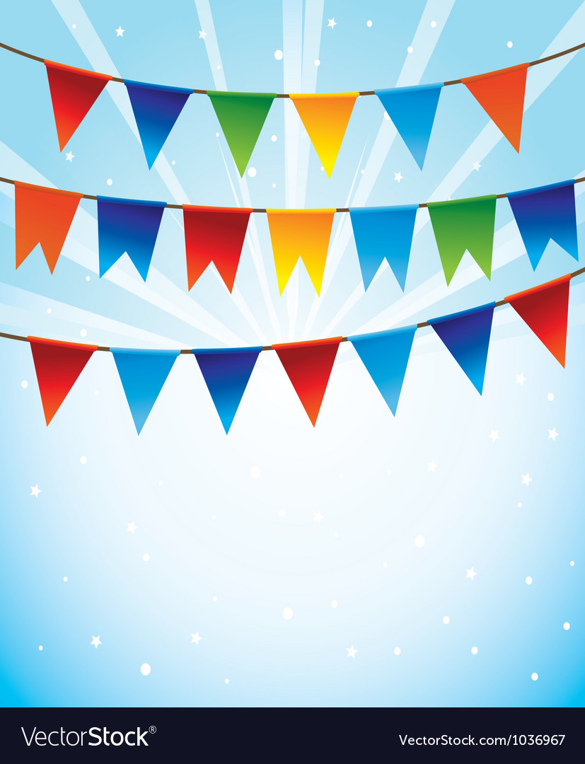 Holiday background with bright flags
