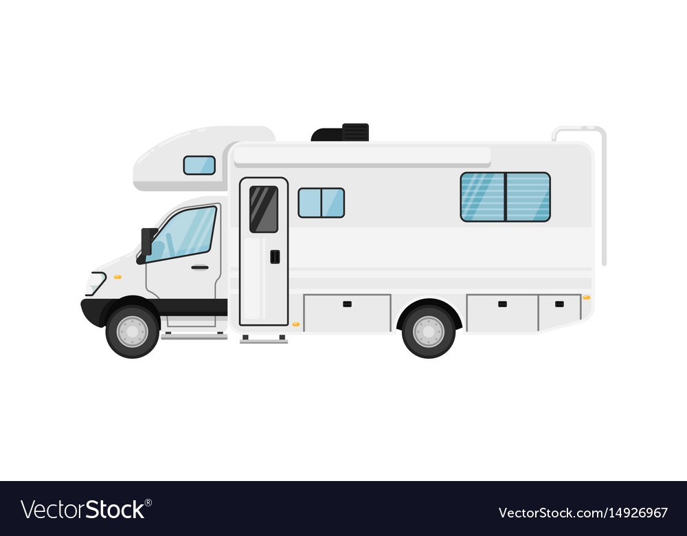 Modern Camper Van Isolated Royalty Free Vector Image