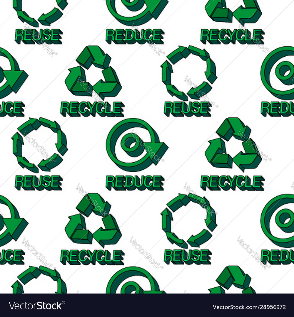 Ecology protection seamless pattern