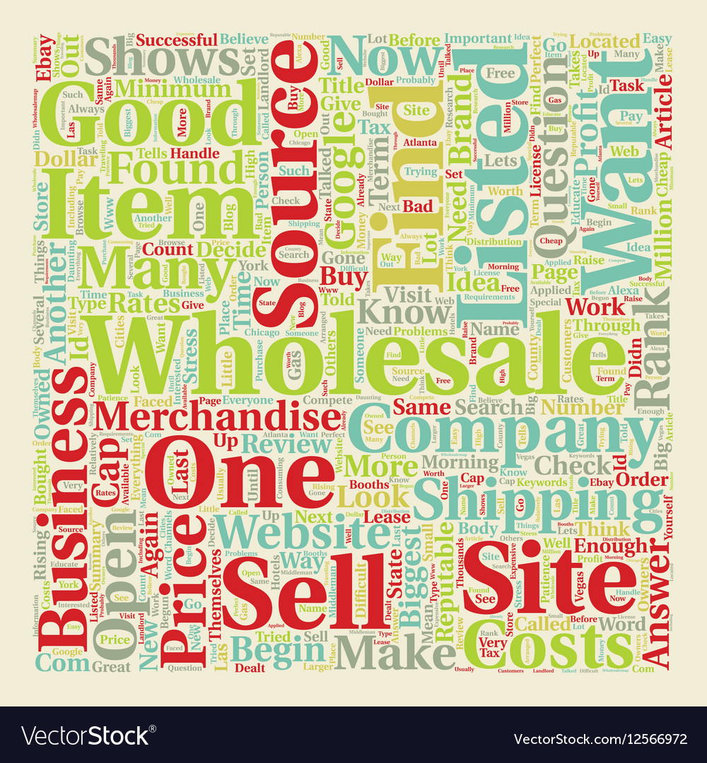 How to Find Wholesale Sources text background