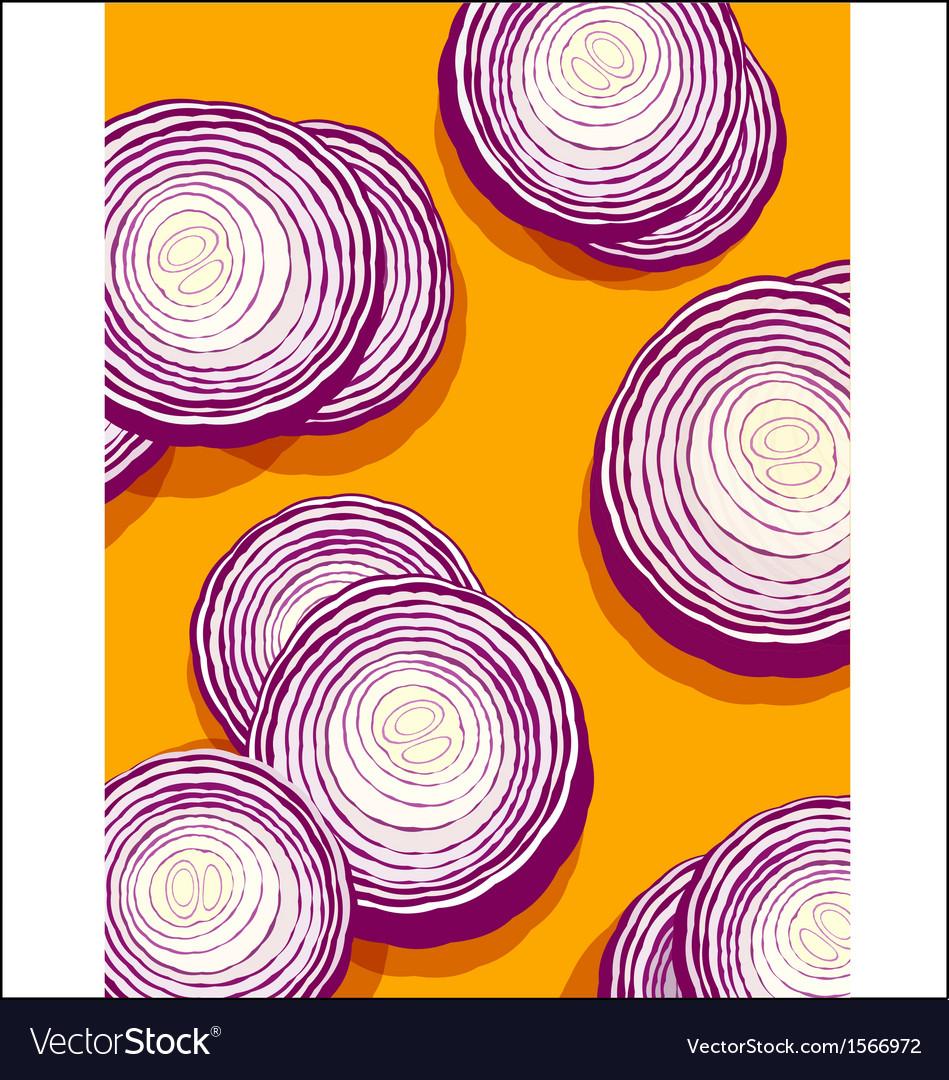 Onions on orange